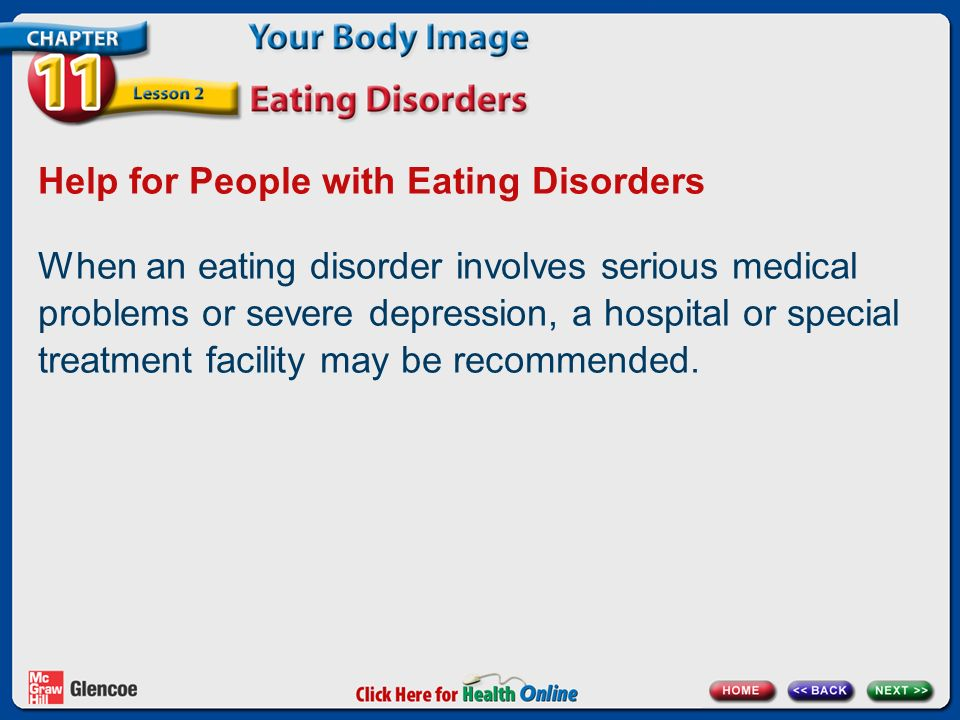 how to seek help for depression and eating disorders
