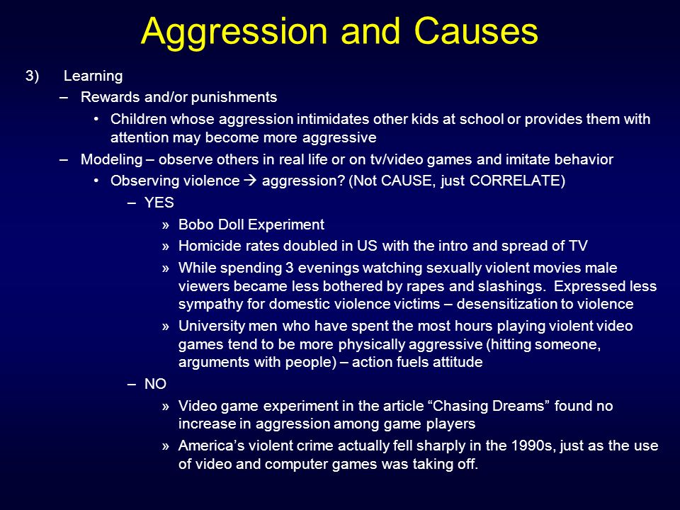 the major reasons for aggressive and violent behaviors of school children Major risk factors for antisocial and delinquent behaviour among children antisocial and delinquent behaviour among aggressive or violent behaviour.