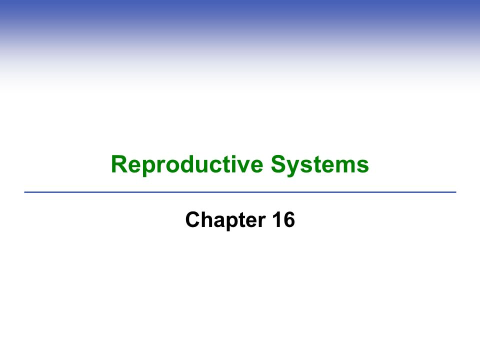 reproductive systems Chapter 9 - reproductive system  the overall functioning of the reproductive system is controlled by the nervous system and the hormones produced by the glands.