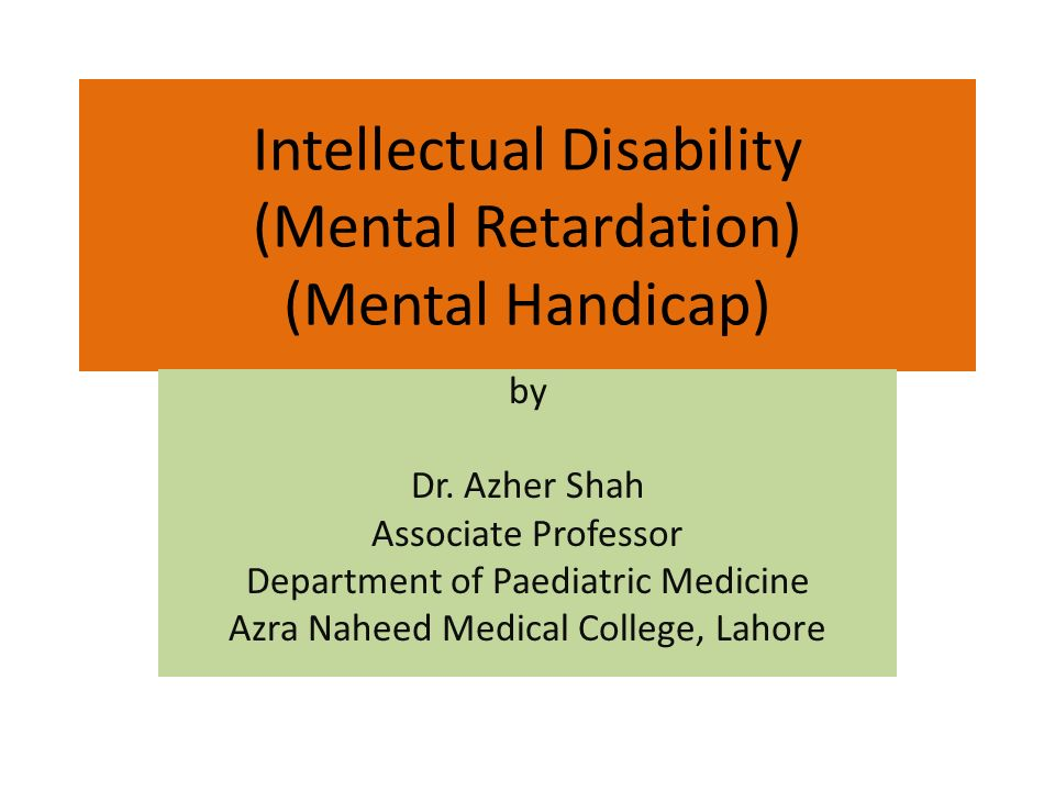 intellectual disabilities The probate courts become involved in the lives of adults with intellectual disability when they are unable to care for their physical health or.
