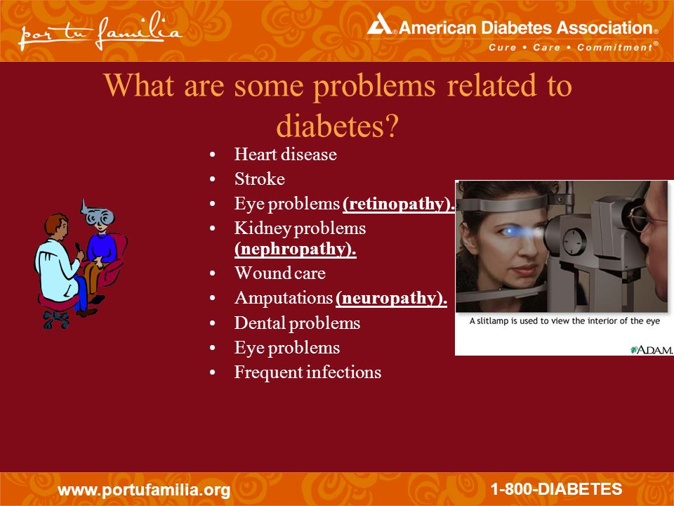 What are some problems related to diabetes