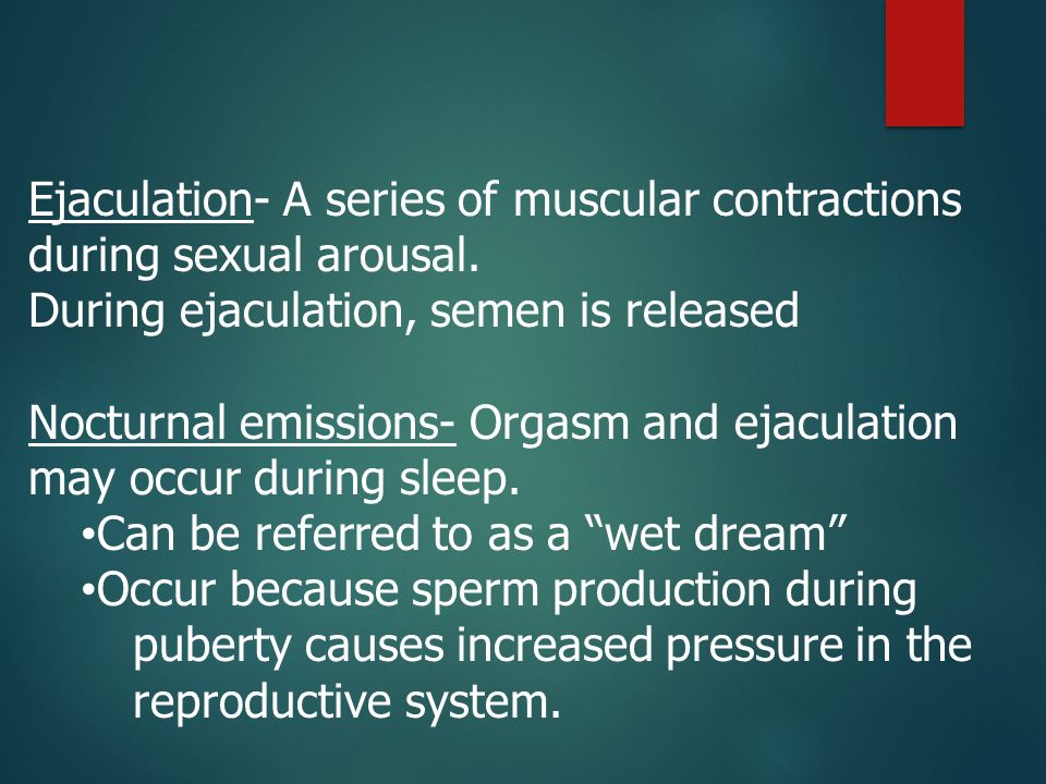 Sperm causes contractions