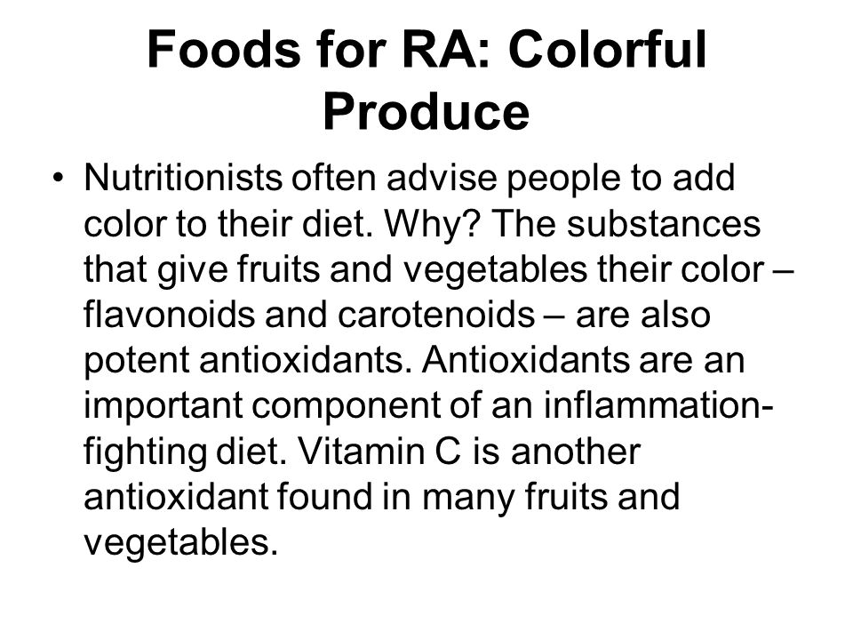 Foods for RA: Colorful Produce