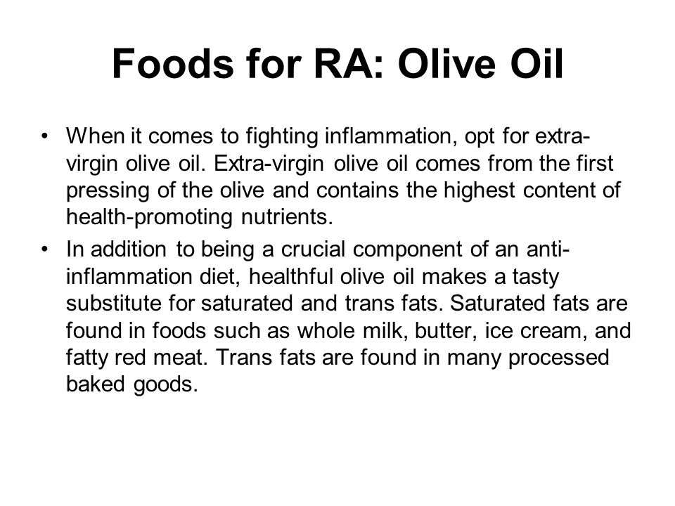 Foods for RA: Olive Oil