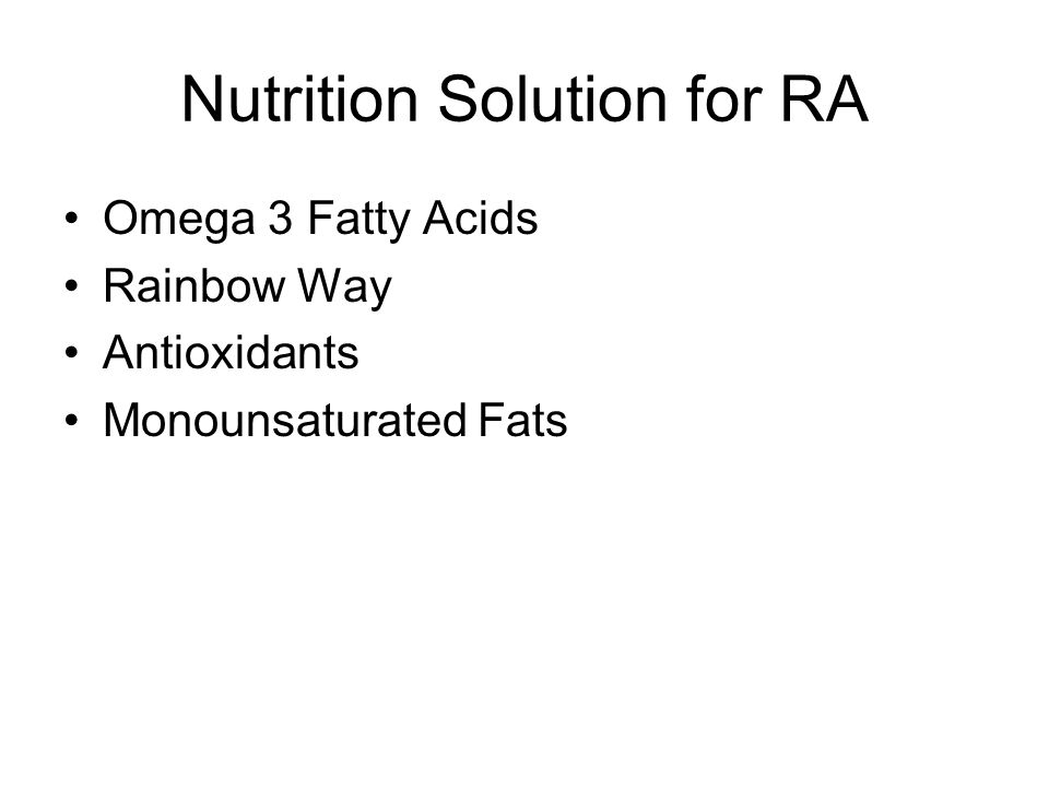 Nutrition Solution for RA