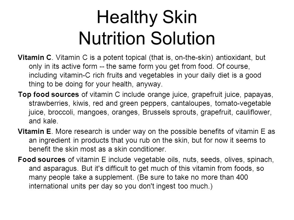 Healthy Skin Nutrition Solution