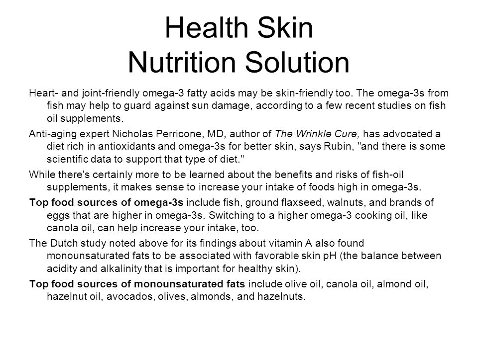 Health Skin Nutrition Solution