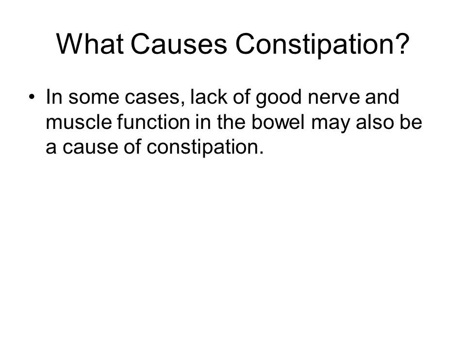 What Causes Constipation