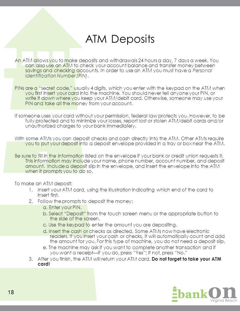 How To Read The Back Of A Cashed Check Sapling Sapling Atm Deposits