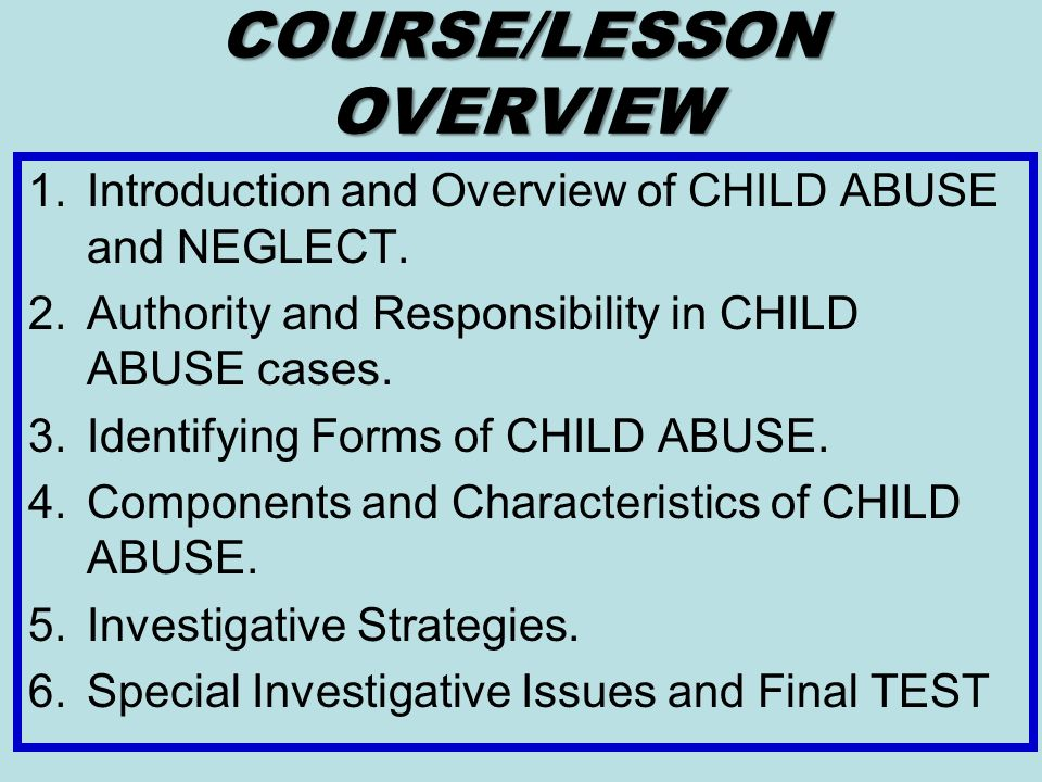 Identify the Characteristics of Different Types of Child Abuse Essay
