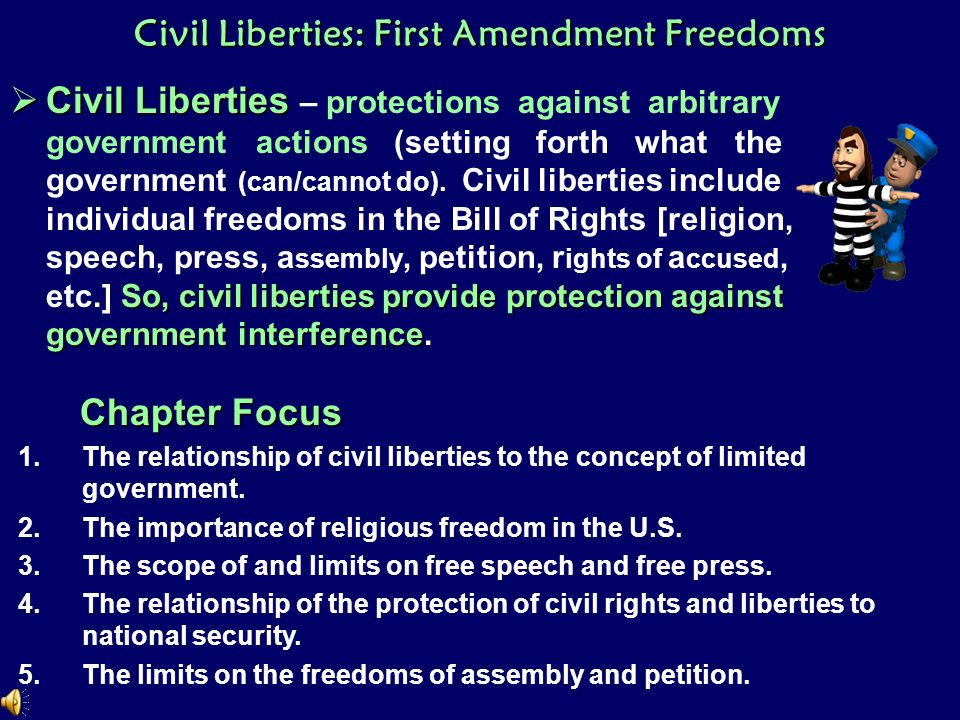 Civil Liberties First Amendment Freedoms  Ppt Download