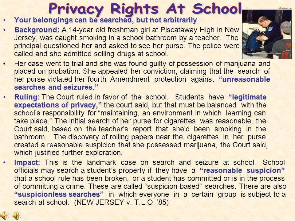 Reasonable Suspicion School Searches Civil Liberties...