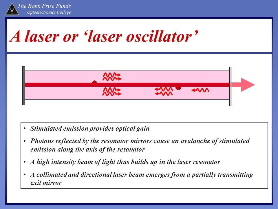 A laser or 'laser oscillator'
