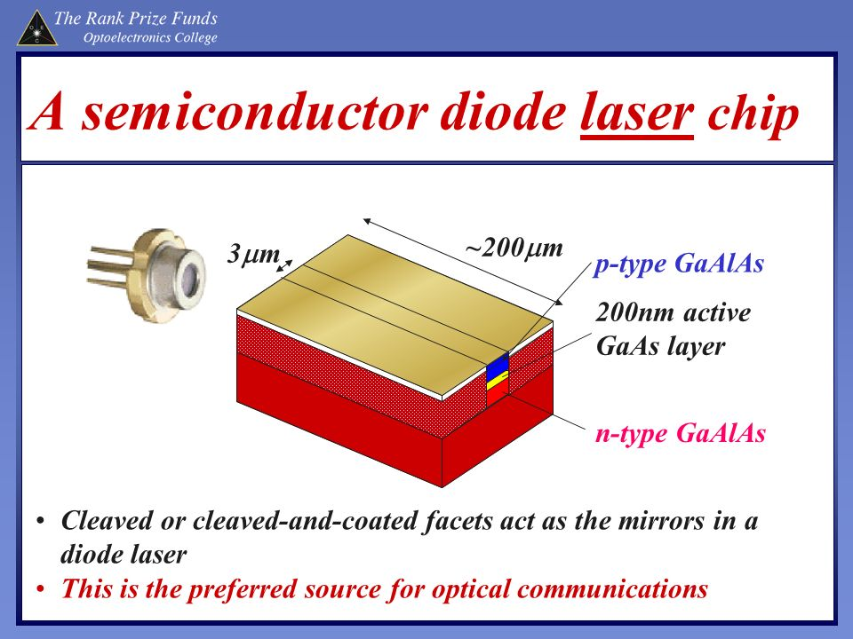 A semiconductor diode laser chip