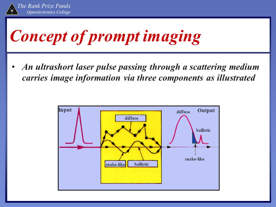Concept of prompt imaging
