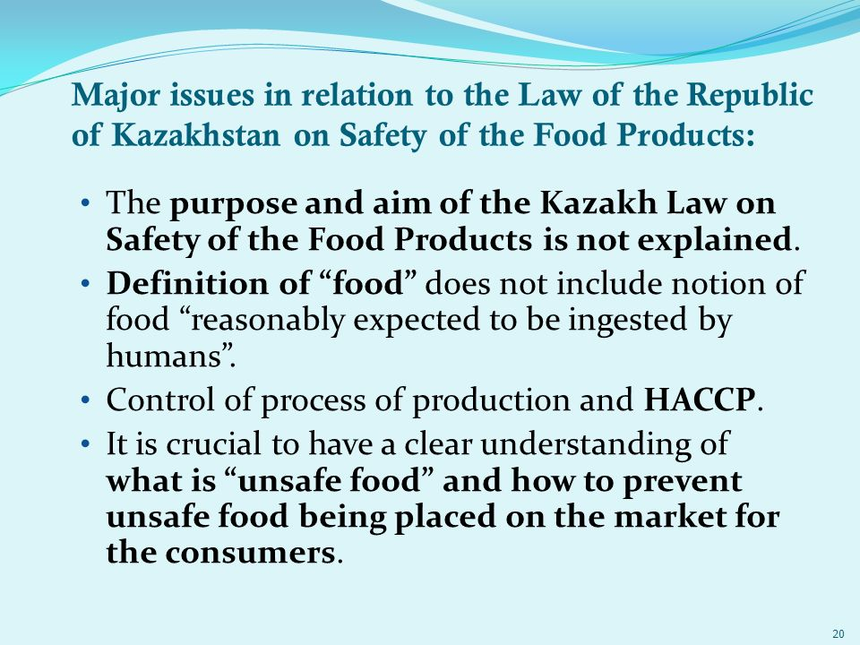 International conference international trade law in the - Haccp definition cuisine ...