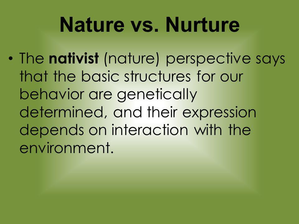 Sex And Nature Vs Nurture