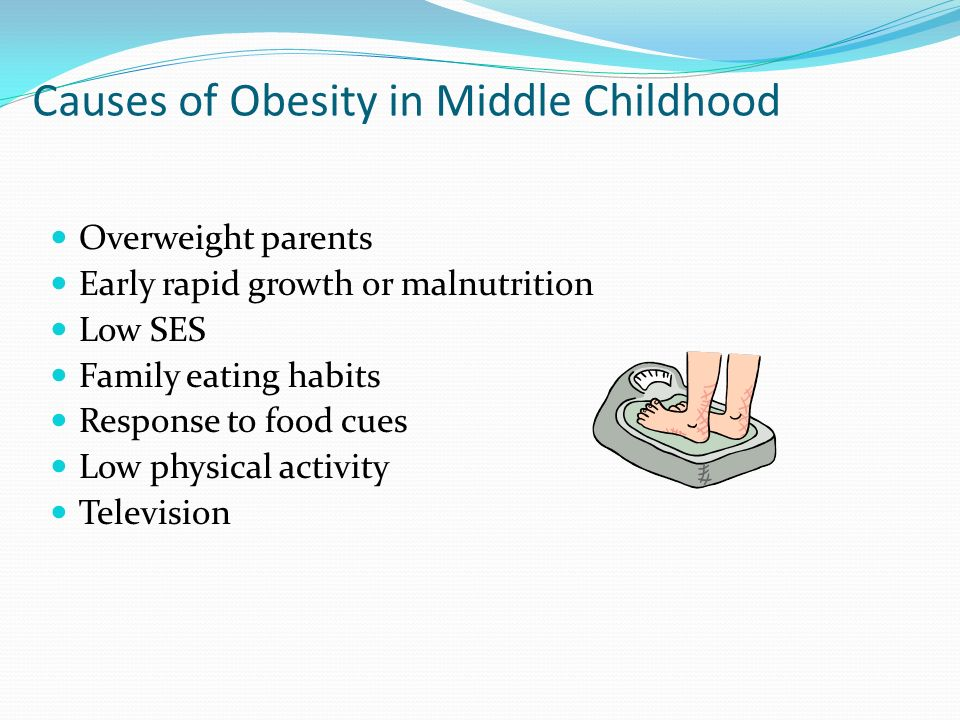 causes of obesity in children Childhood obesity: diagnosis body mass index (bmi), expressed as weight/height2 (kg/m2), is most often used to define overweight and obese conditions using a growth chart, your child's pediatrician will calculate your child's percentile , and how he/she compares with other children of the same sex and age.