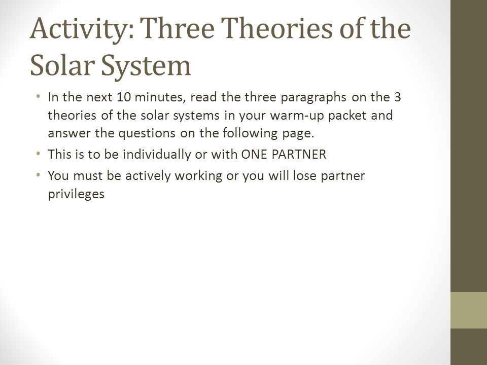 Images Of Theories Of The Solar System Spacehero