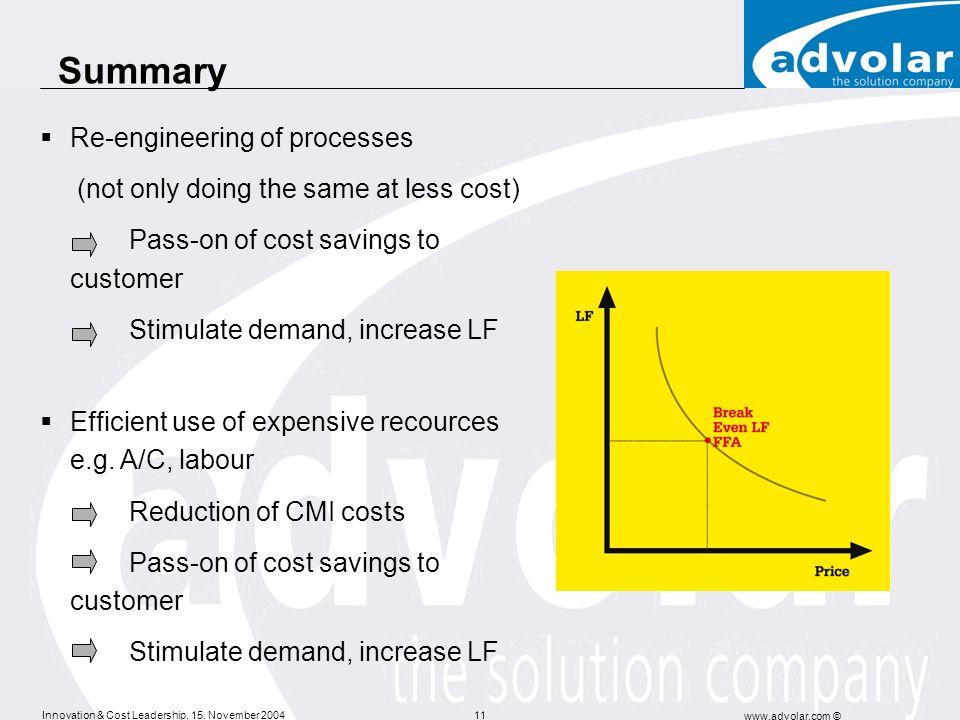 Summary Re-engineering of processes
