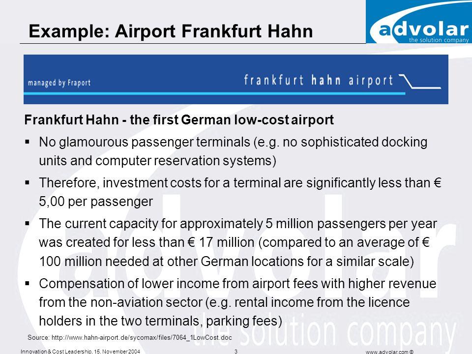 Example: Airport Frankfurt Hahn