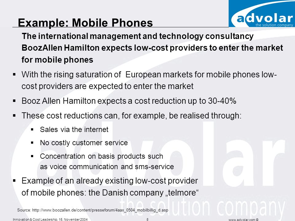 Example: Mobile Phones