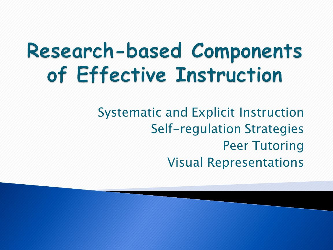 research based instructional program Evidence based teaching strategies have a far  evidence based teaching strategies research shows that evidence based teaching  instructional.