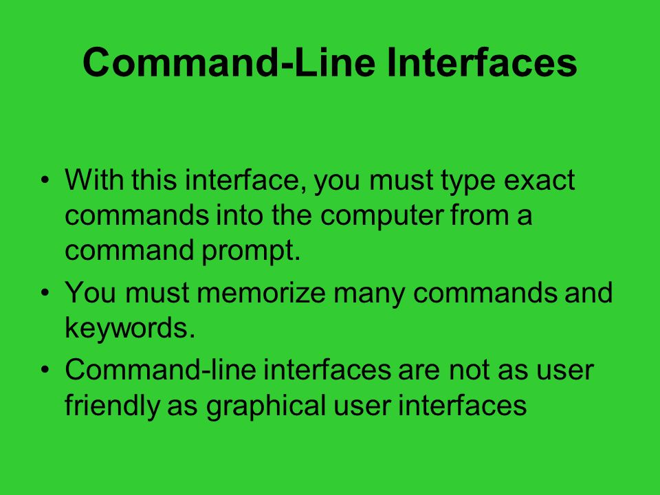 Command-Line Interfaces