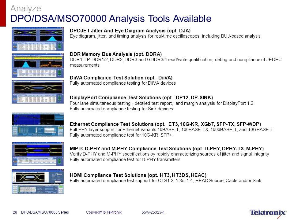 Dpodsamso70000 series tektronix performance oscilloscopes ppt 28 analyze ccuart Images