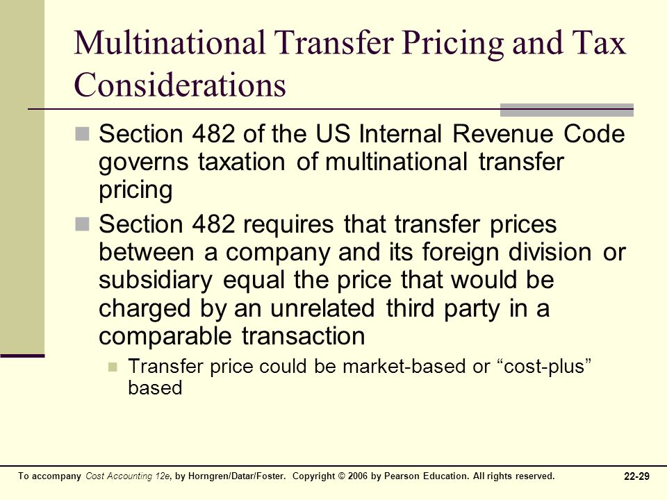 multinational tax management 1 A multinational corporation as logistics management governments for allowing multinational organizations to escape tax since less money can.