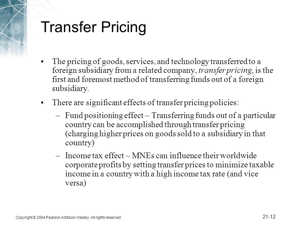 transfer pricing methods Transfer pricing methods under the oecd guidelines & their convergence with the methods specified under section 482 of the us internal revenue code.
