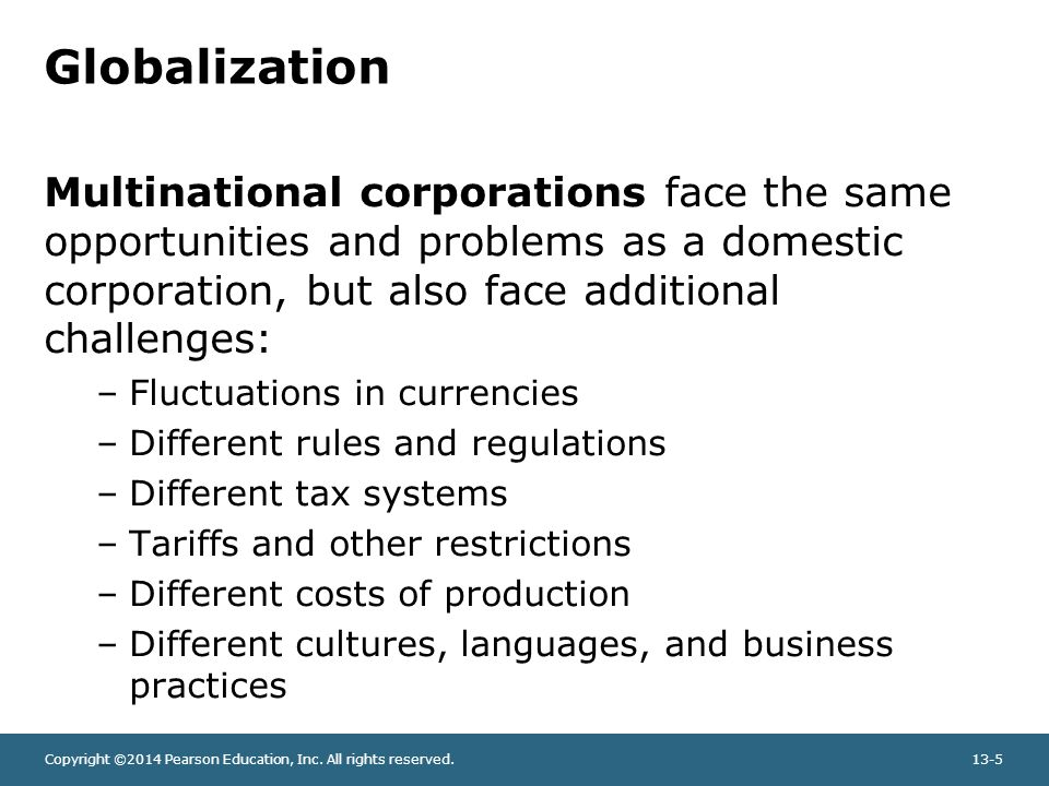 Challenges Facing Multinational Corporations