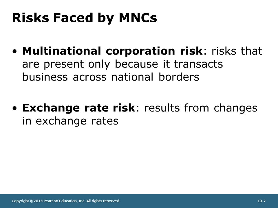 exhange risk faced by multinational companies 1 examples of companies managing political risk 2 factors that affect a multinational corporation 3 what are the six key differences between multinational & domestic financial management.