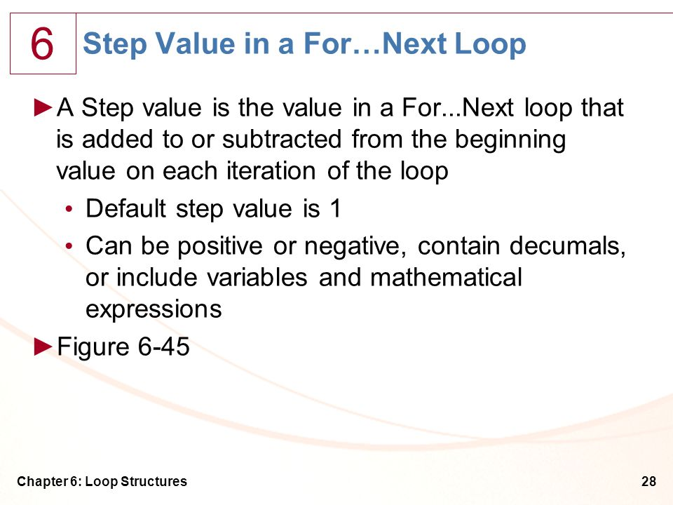 Step Value in a For…Next Loop