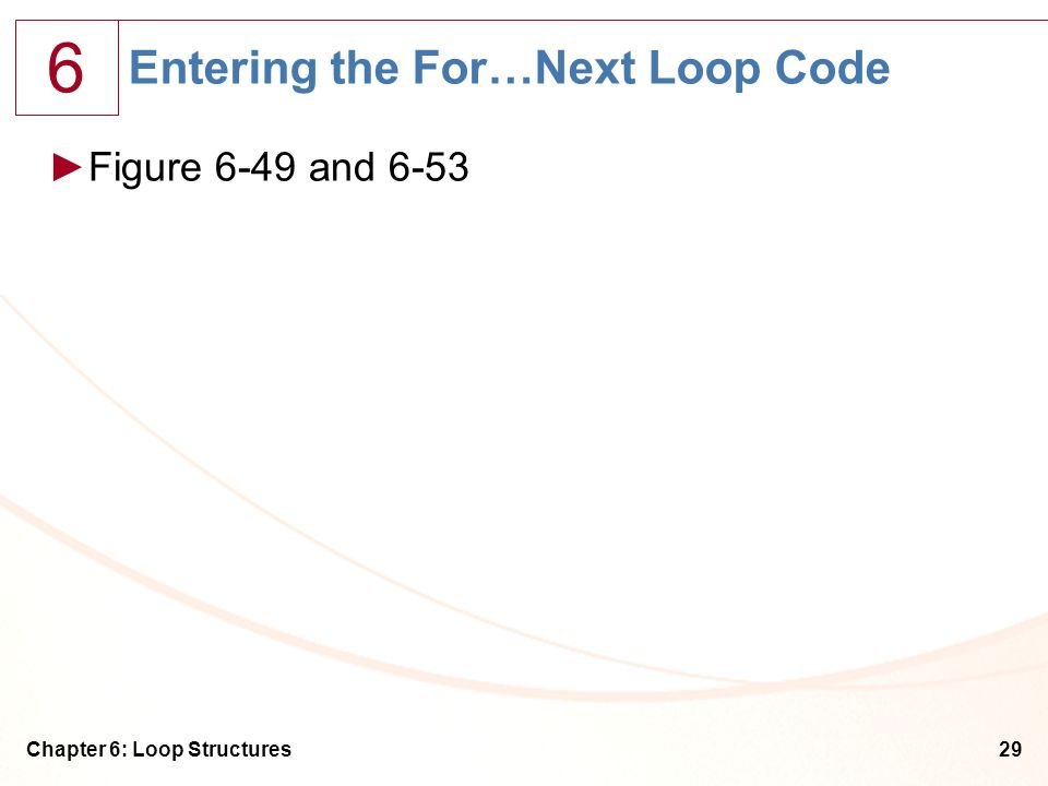 Entering the For…Next Loop Code