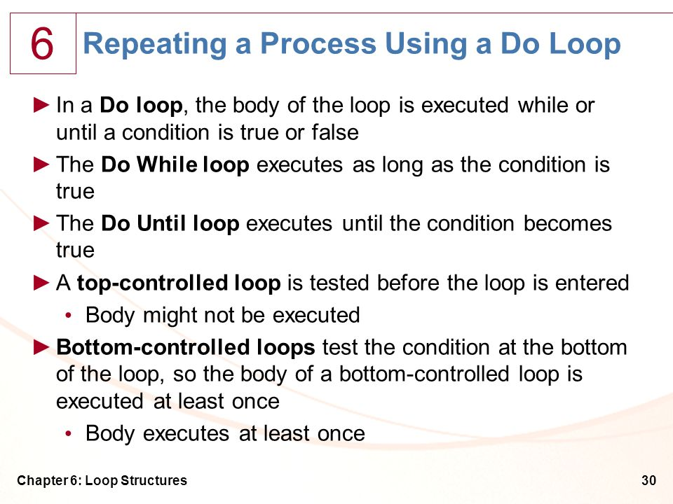 Repeating a Process Using a Do Loop