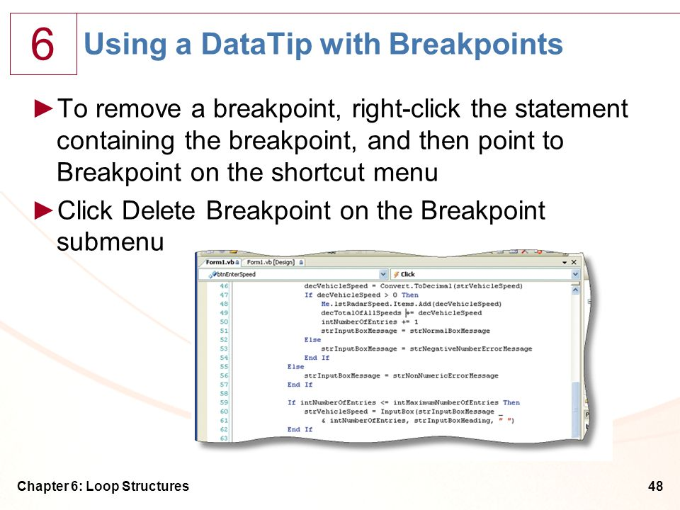 Using a DataTip with Breakpoints