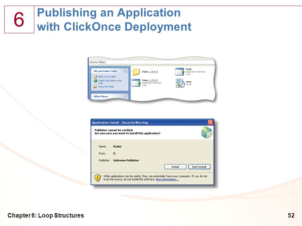 Publishing an Application with ClickOnce Deployment