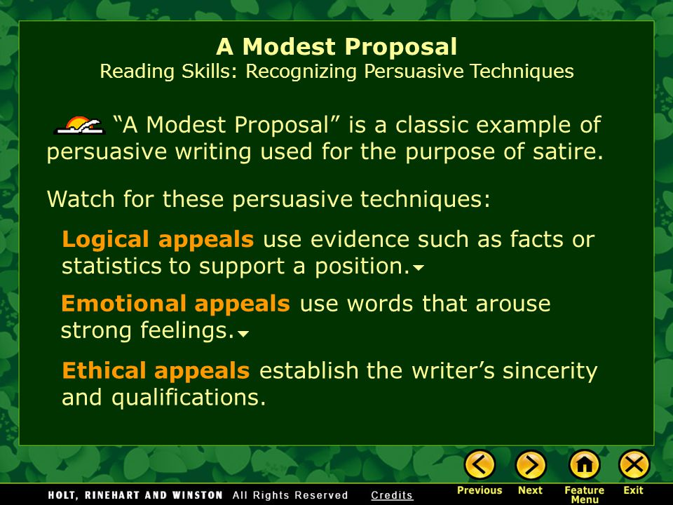 a modest proposal by swift essay This essay swifts a modest proposal and other 63,000+ term papers, college essay examples and free essays are available now on reviewessays swift's a modest proposal.