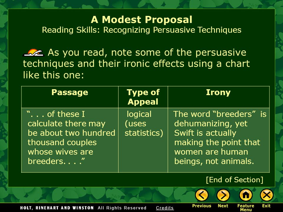 A Modest Proposal By Jonathan Swift Ppt Video Online Download