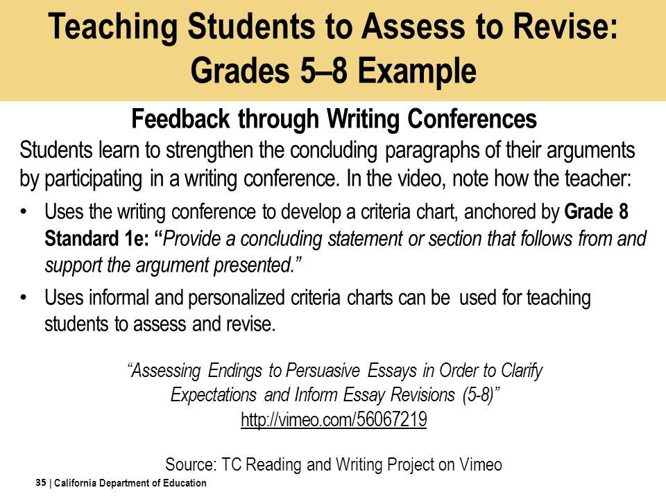 assessing a student essay The cuny assessment test in writing (catw) is a standardized writing test that measures a student's ability to do college-level writing in english.