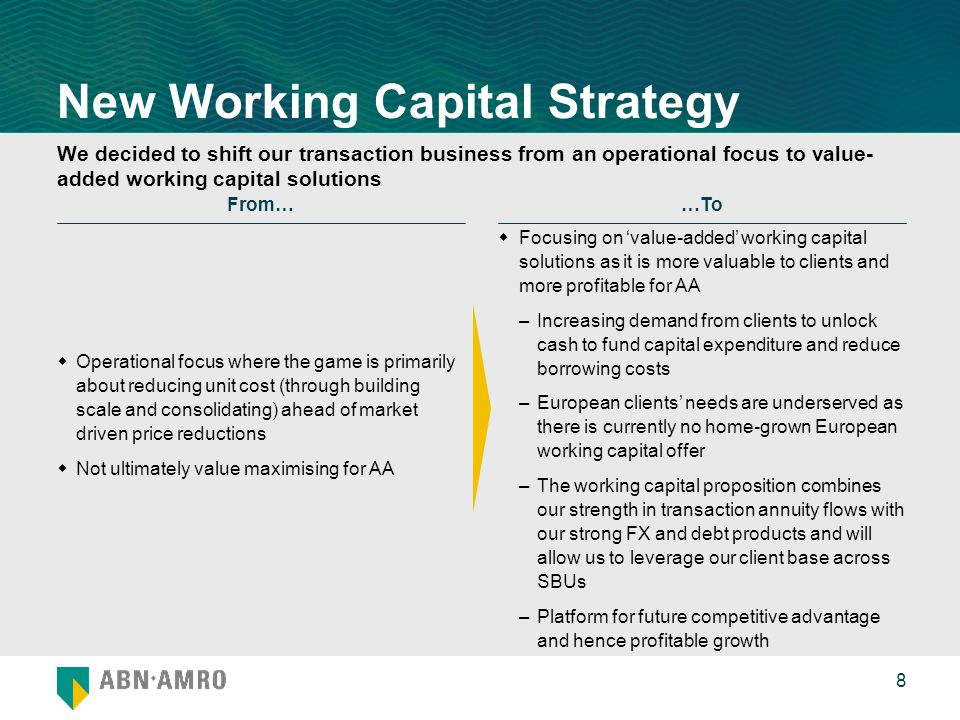 Uncovering cash and insights from working capital