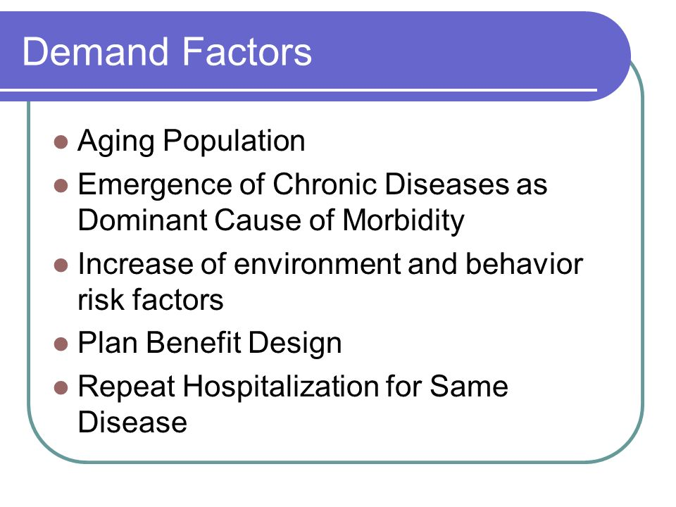 Demand Factors Aging Population