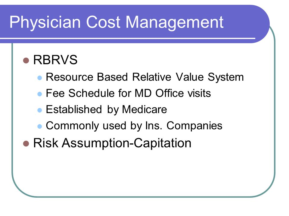 Physician Cost Management