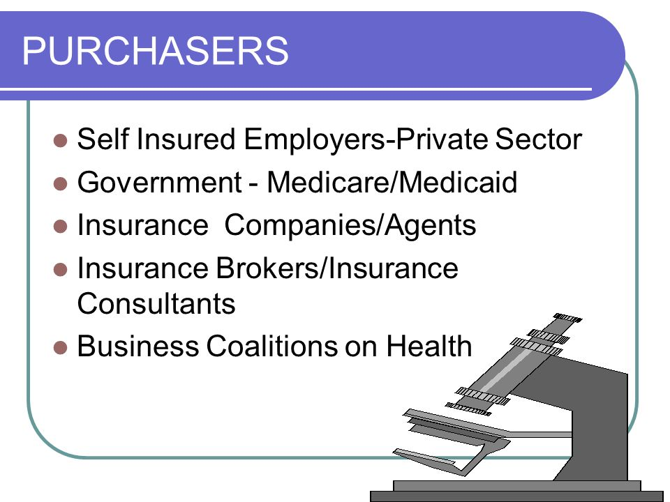 PURCHASERS Self Insured Employers-Private Sector