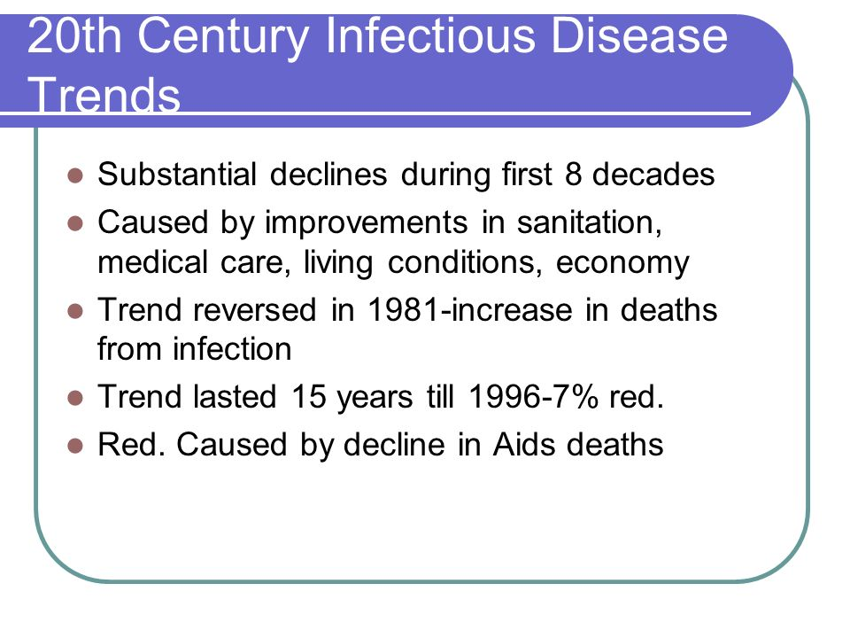 20th Century Infectious Disease Trends
