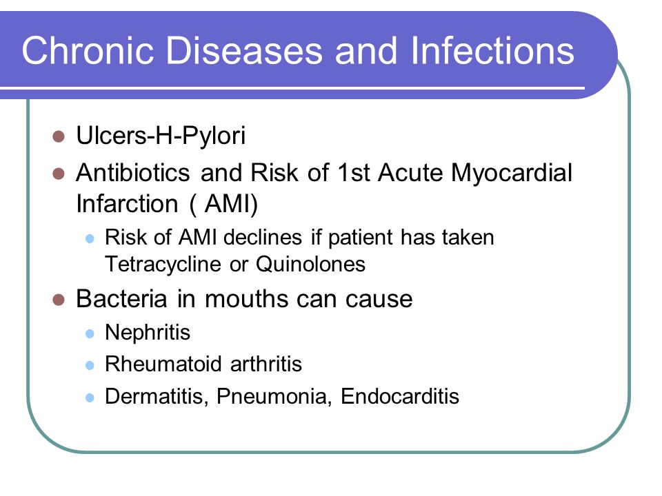 Chronic Diseases and Infections