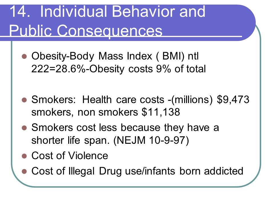 14. Individual Behavior and Public Consequences