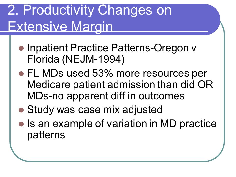 2. Productivity Changes on Extensive Margin