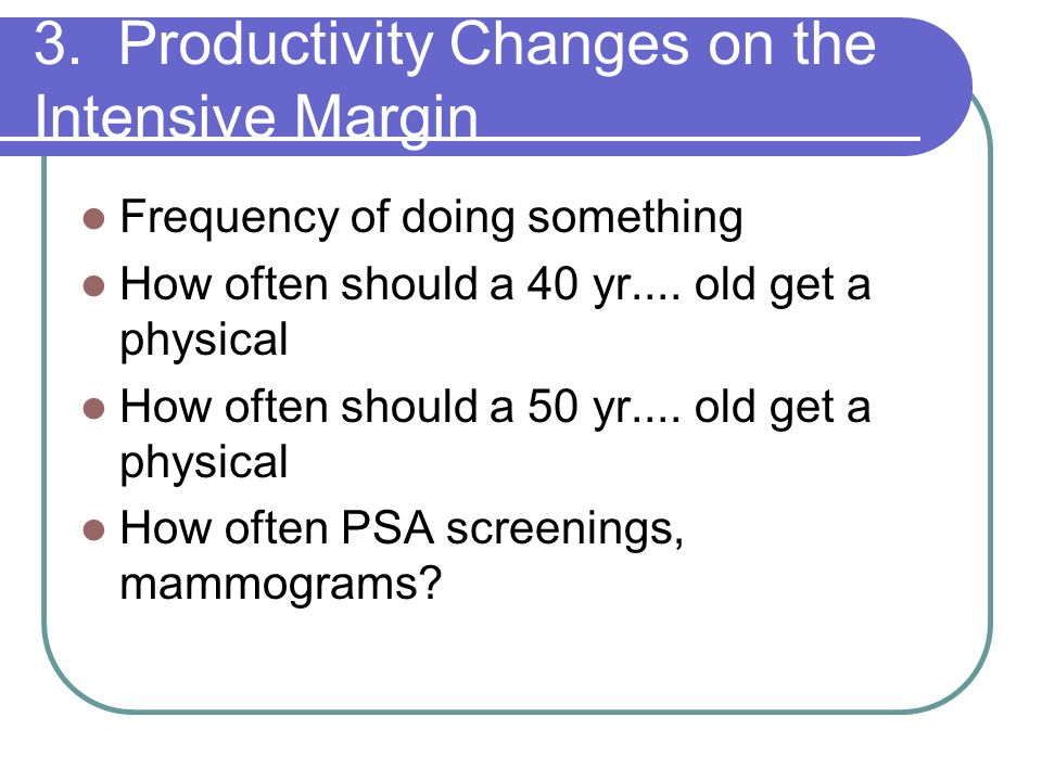 3. Productivity Changes on the Intensive Margin
